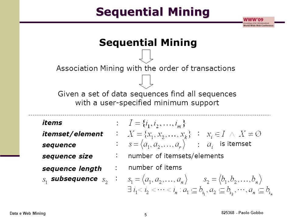 Association Mining with the order of transactions