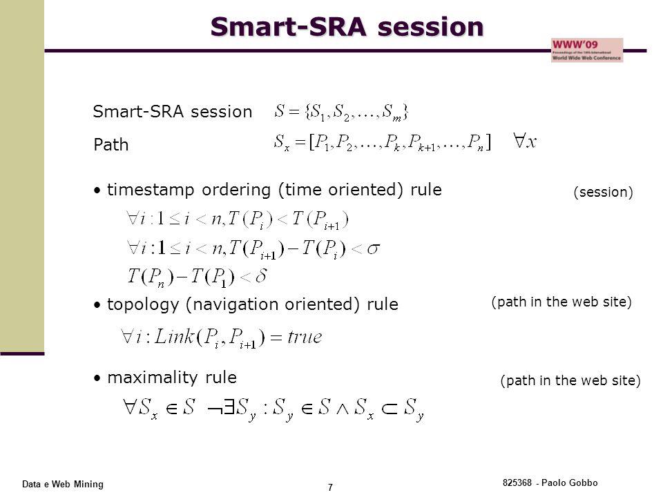Smart-SRA session Smart-SRA session Path
