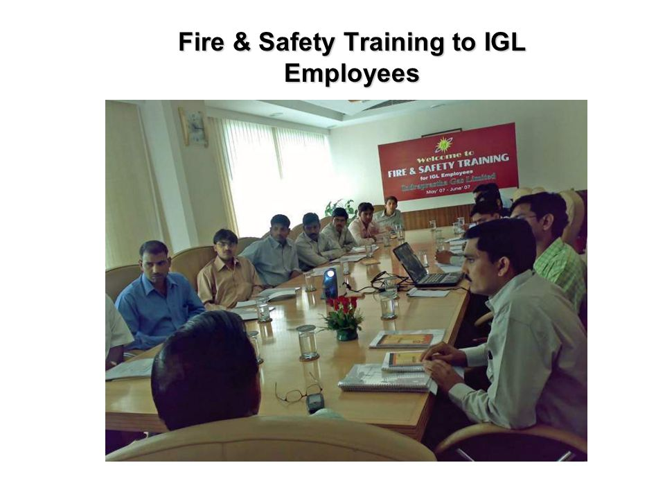 Fire & Safety Training to IGL Employees