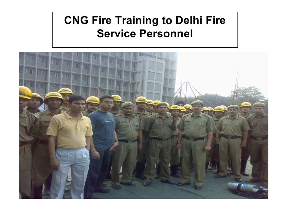 CNG Fire Training to Delhi Fire Service Personnel