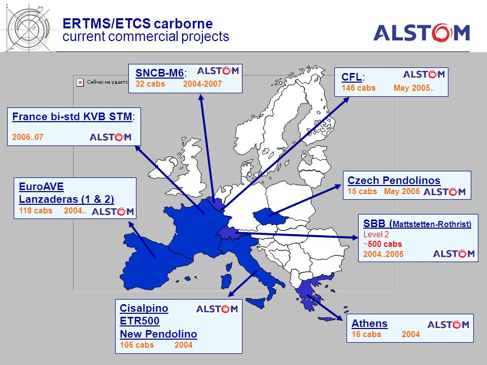 ERTMS/ETCS carborne current commercial projects