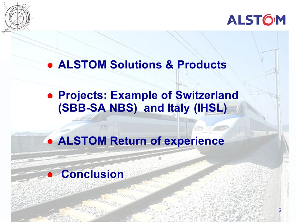 ALSTOM Solutions & Products