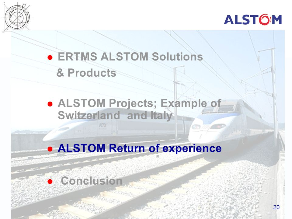 ERTMS ALSTOM Solutions & Products