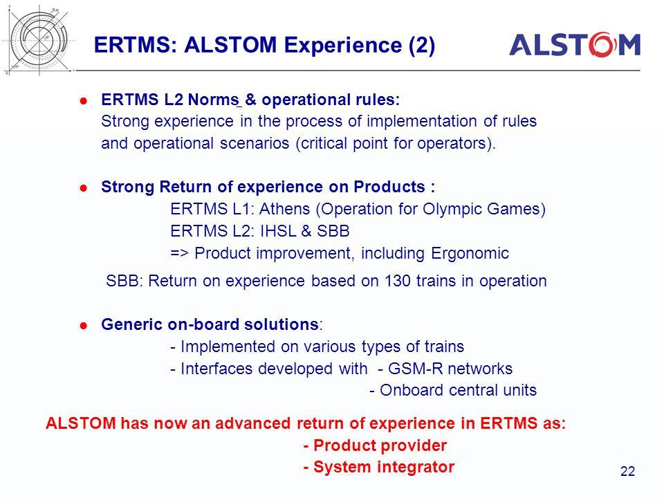 ERTMS: ALSTOM Experience (2)