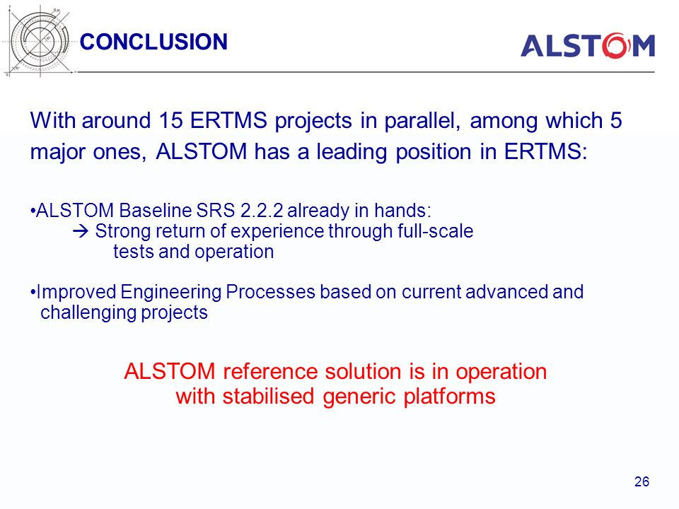 ALSTOM reference solution is in operation