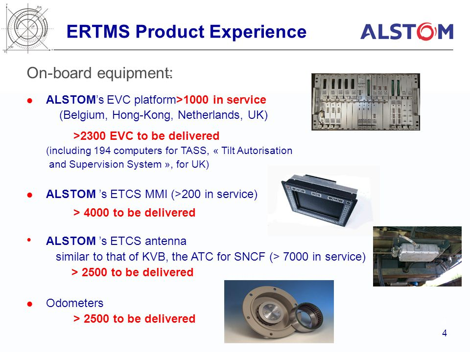 ERTMS Product Experience