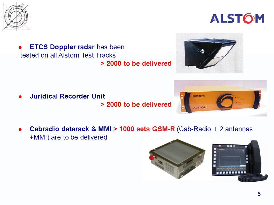 ETCS Doppler radar has been tested on all Alstom Test Tracks