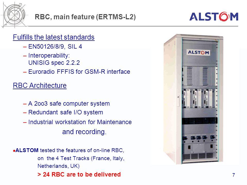 RBC, main feature (ERTMS-L2)