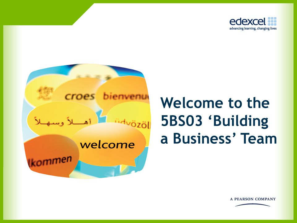 Welcome to the 5BS03 'Building a Business' Team