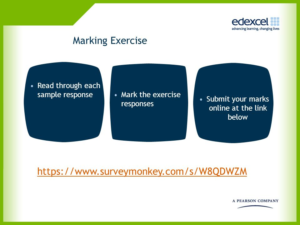 Submit your marks online at the link below
