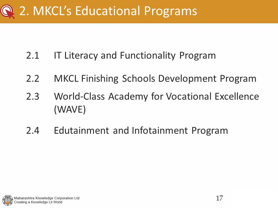 2. MKCL's Educational Programs