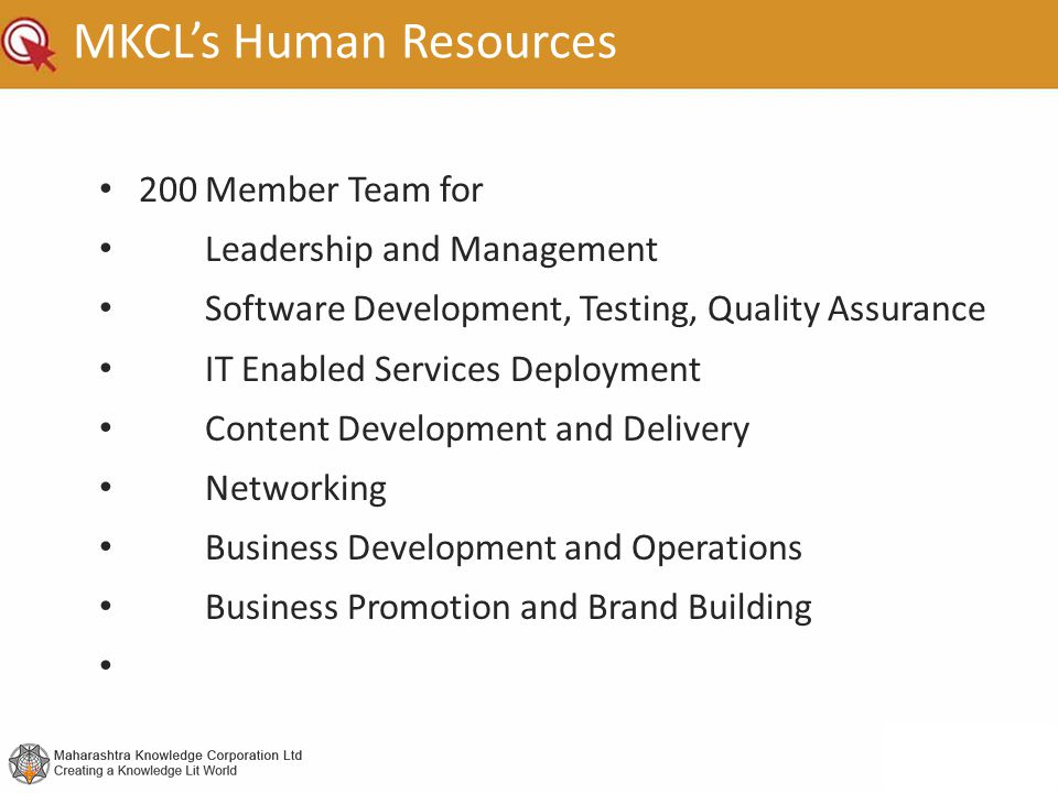 MKCL's Human Resources