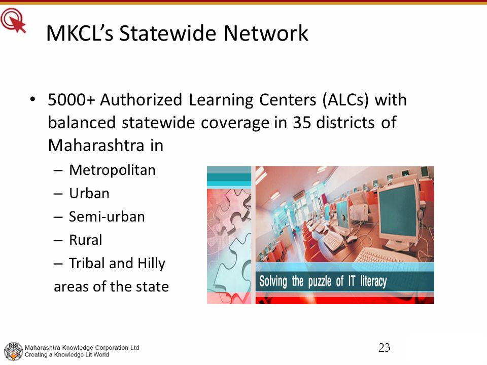 MKCL's Statewide Network