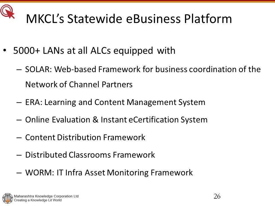 MKCL's Statewide eBusiness Platform