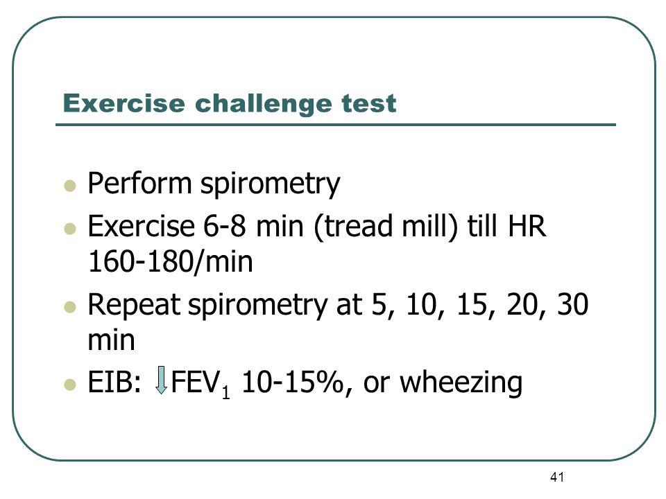 Exercise challenge test