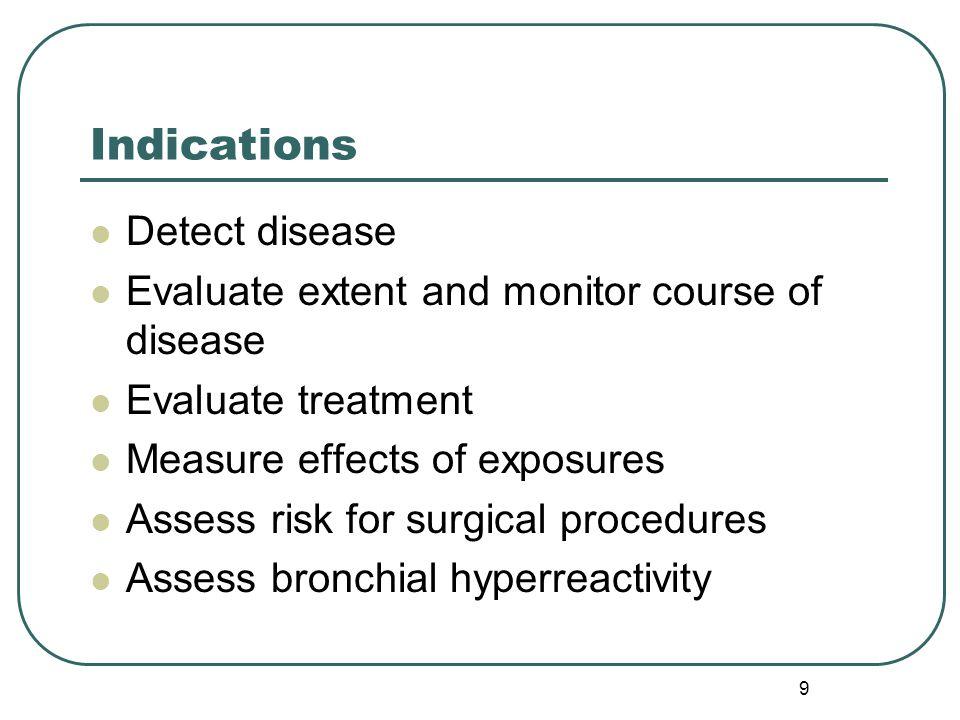 Indications Detect disease