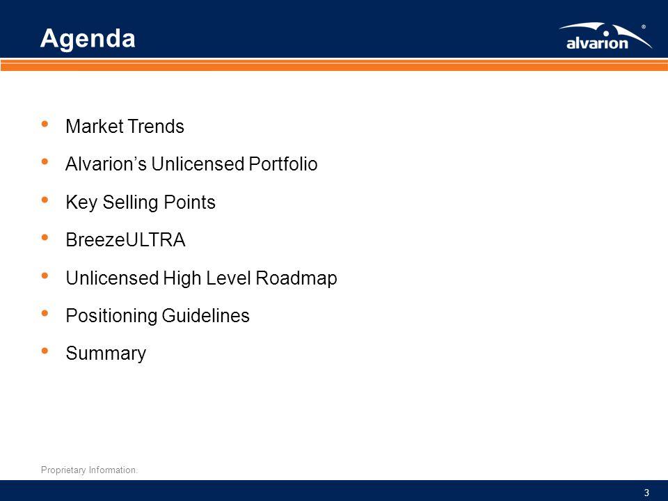 Agenda Market Trends Alvarion's Unlicensed Portfolio