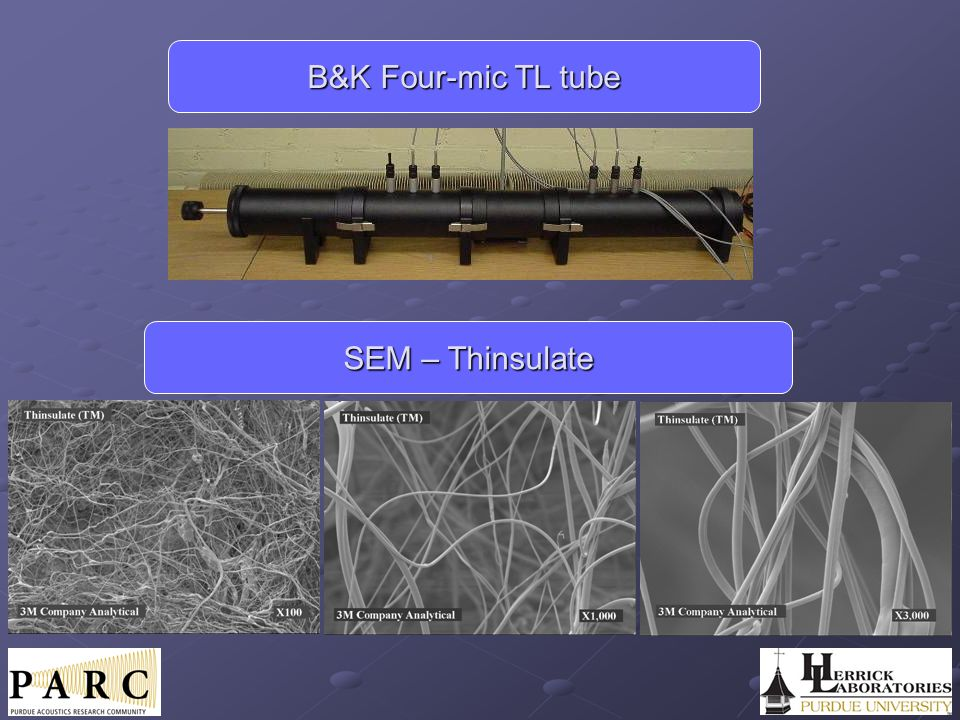 B&K Four-mic TL tube SEM – Thinsulate