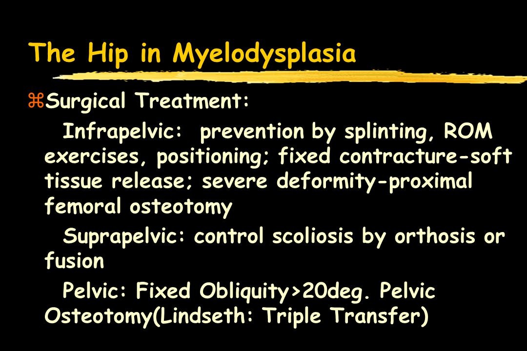The Hip in Myelodysplasia