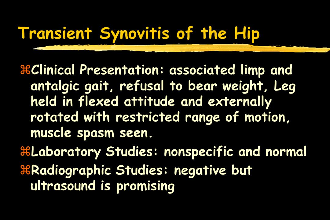 Transient Synovitis of the Hip