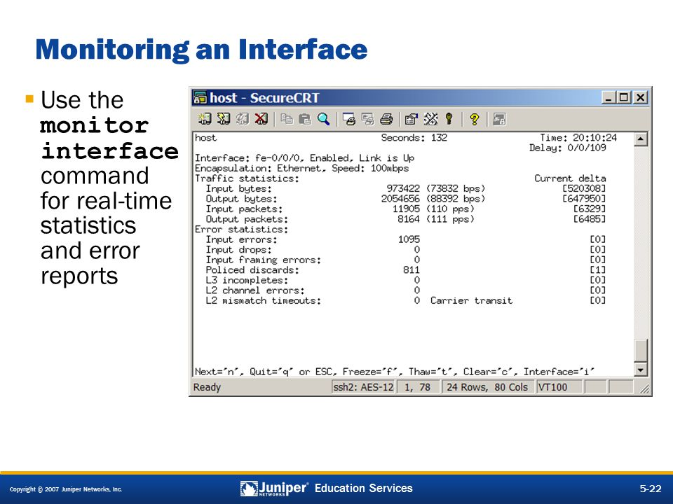Monitoring an Interface
