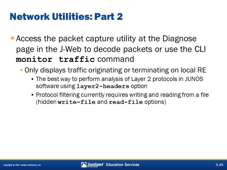 Network Utilities: Part 2