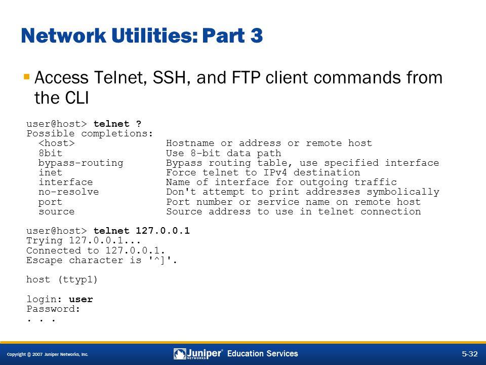Network Utilities: Part 3