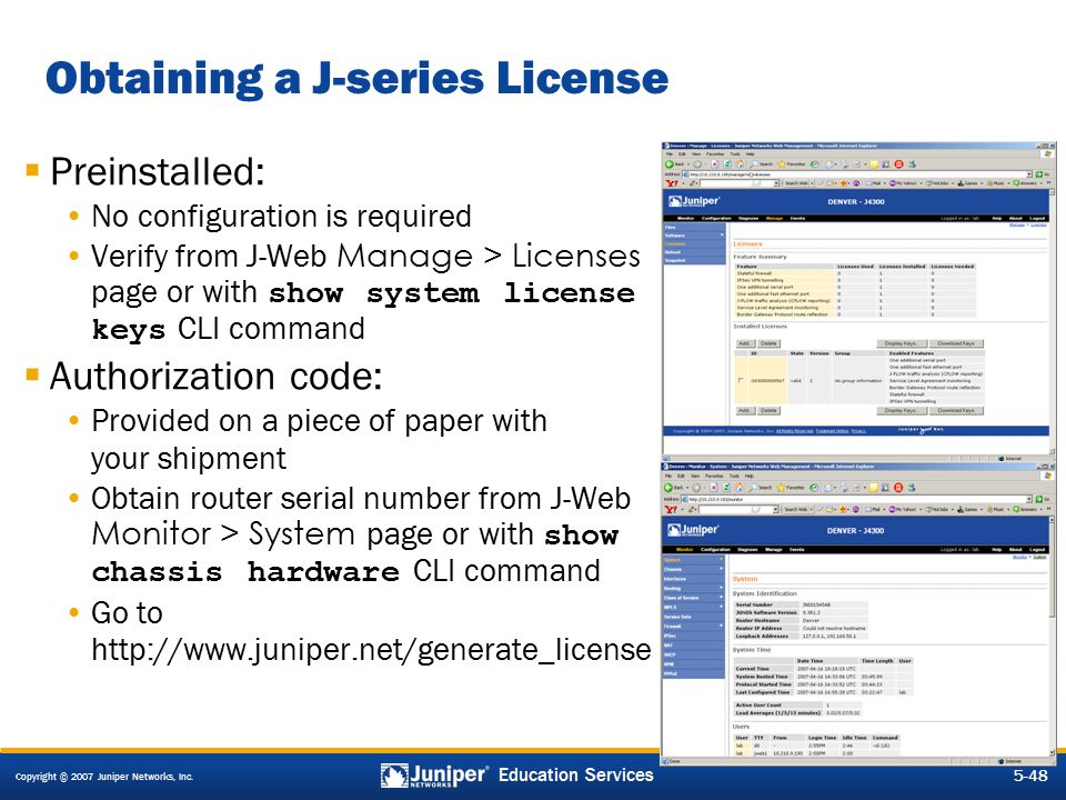 Obtaining a J-series License