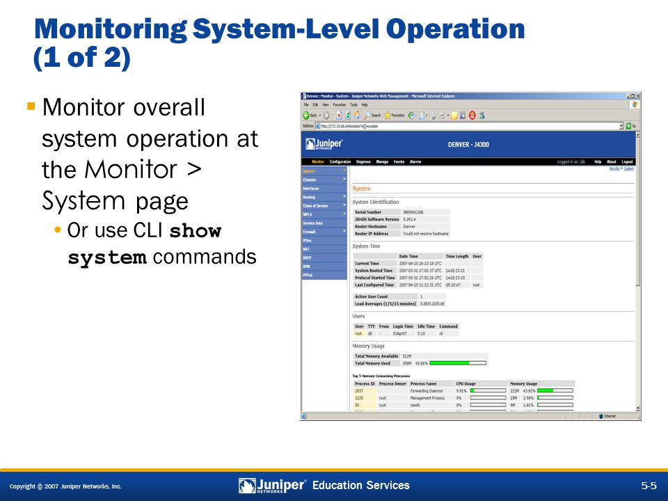 Monitoring System-Level Operation (1 of 2)