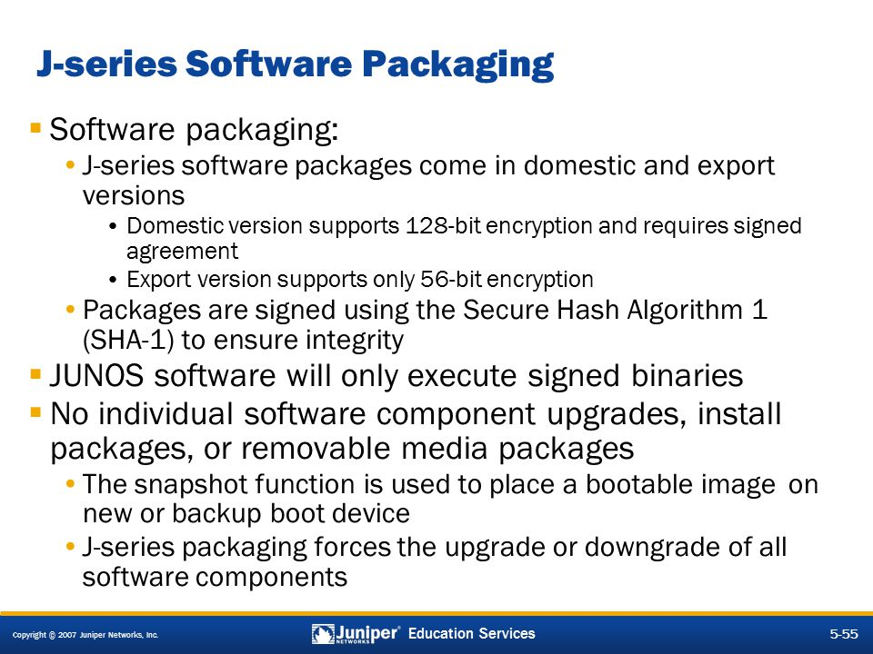 J-series Software Packaging