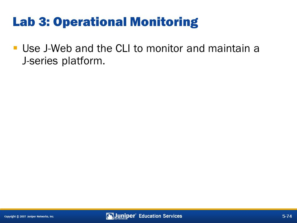 Lab 3: Operational Monitoring