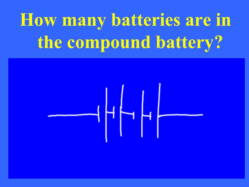 How many batteries are in the compound battery