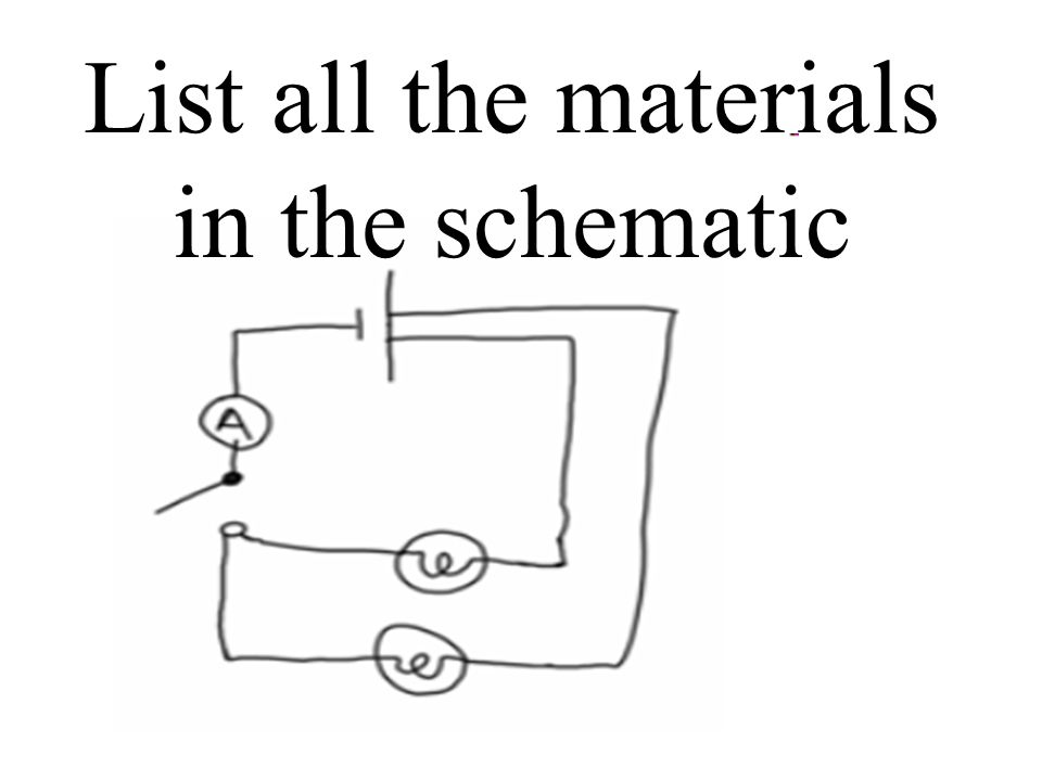 List all the materials in the schematic