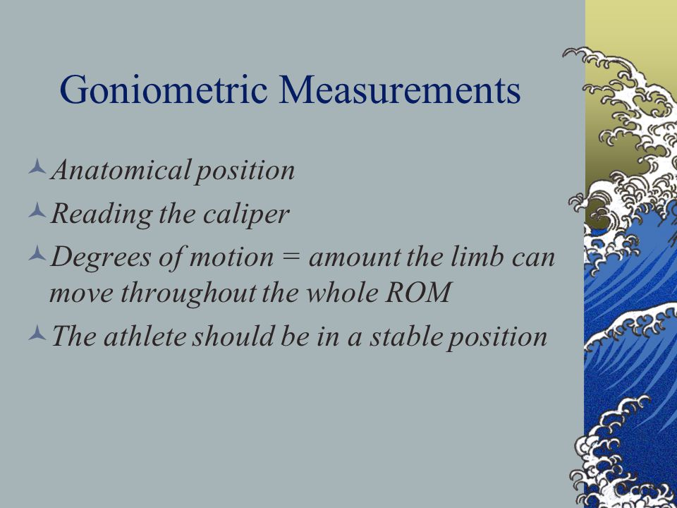 Goniometric Measurements