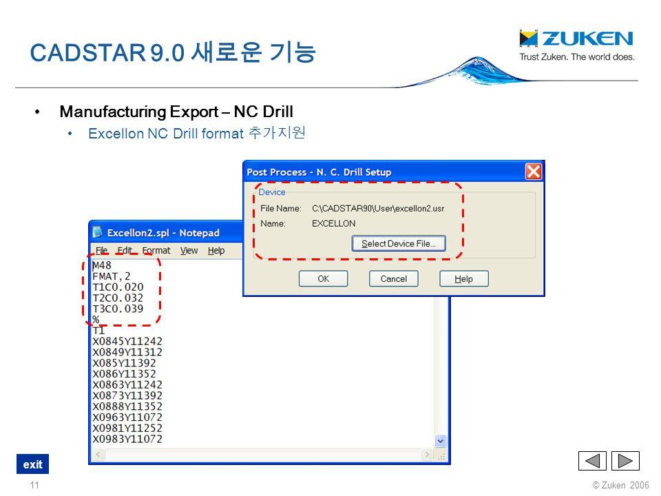 CADSTAR 9.0 새로운 기능 Manufacturing Export – NC Drill