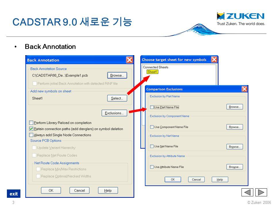 CADSTAR 9.0 새로운 기능 Back Annotation
