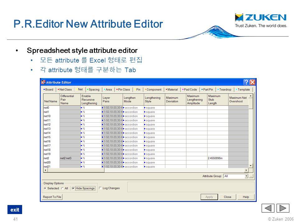 P.R.Editor New Attribute Editor