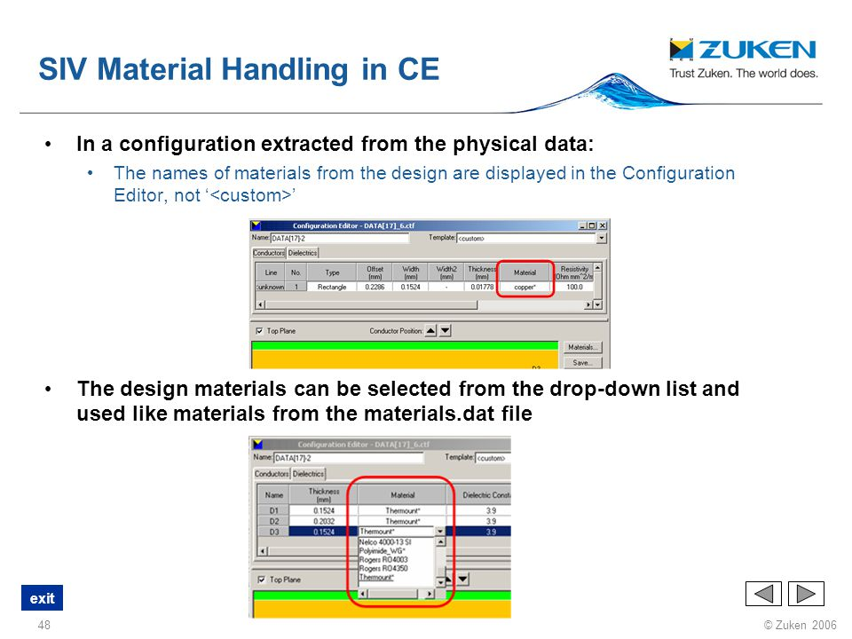 SIV Material Handling in CE