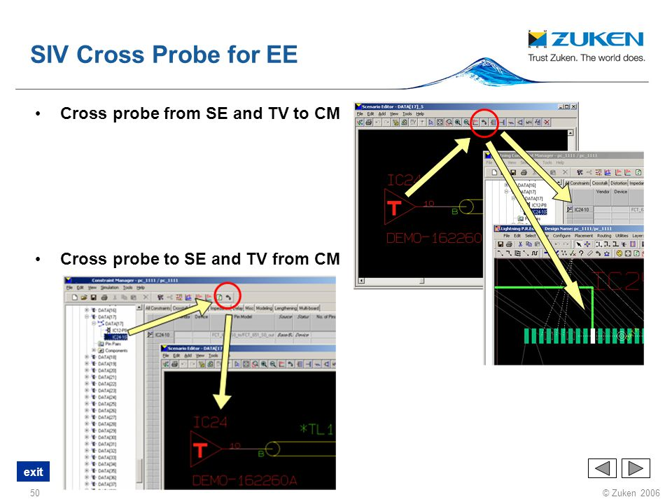 SIV Cross Probe for EE Cross probe from SE and TV to CM