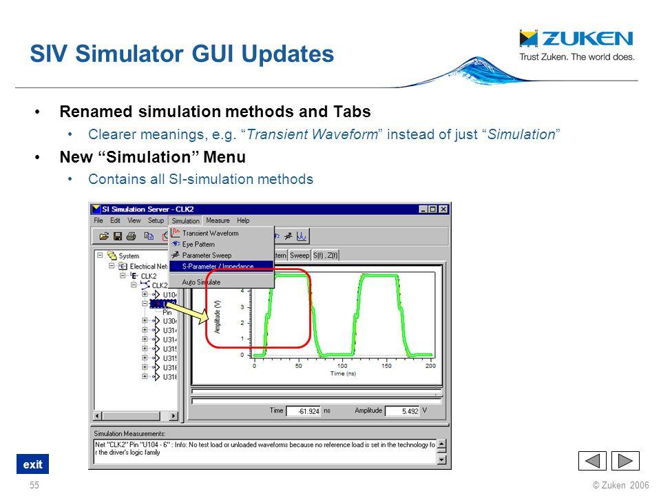 SIV Simulator GUI Updates