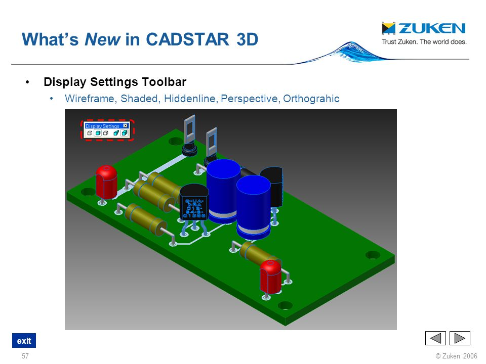 What's New in CADSTAR 3D Display Settings Toolbar