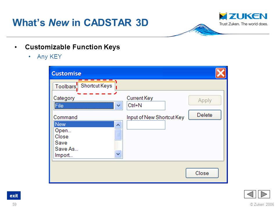 What's New in CADSTAR 3D Customizable Function Keys Any KEY