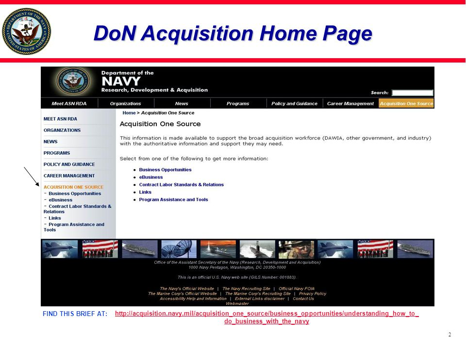 DoN Acquisition Home Page