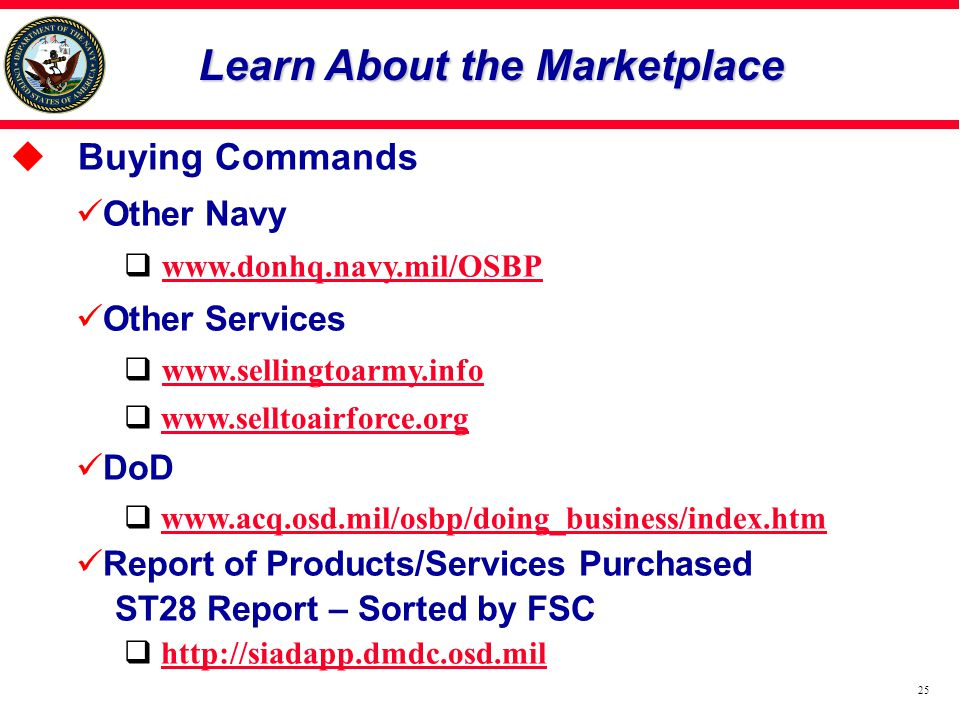 Learn About the Marketplace