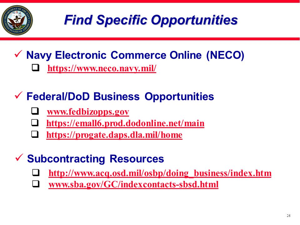 Find Specific Opportunities