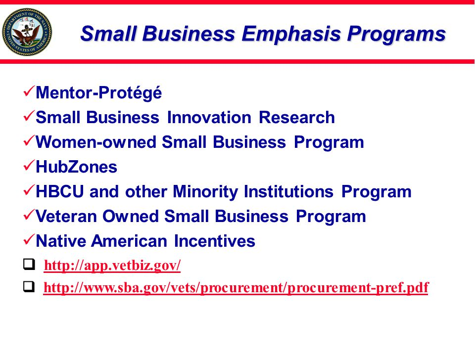 Small Business Emphasis Programs