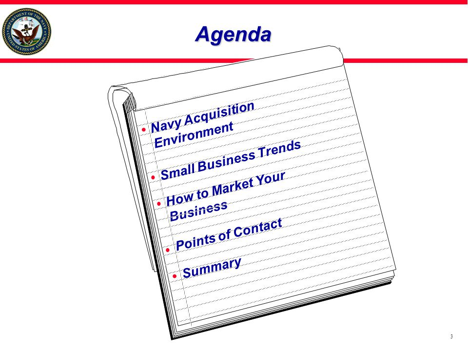 Agenda Navy Acquisition Environment Small Business Trends