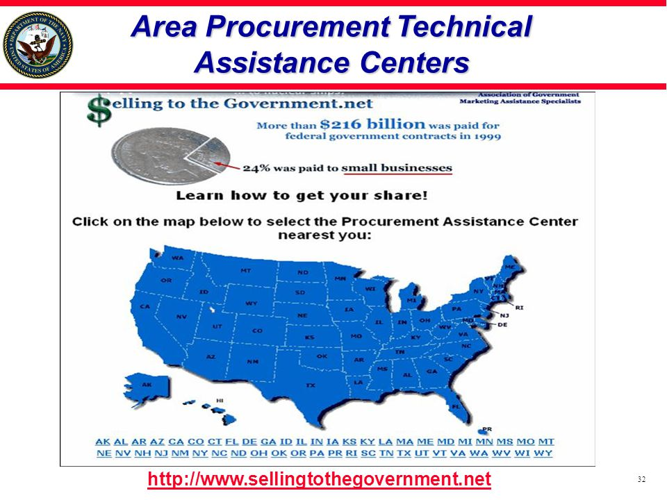Area Procurement Technical Assistance Centers