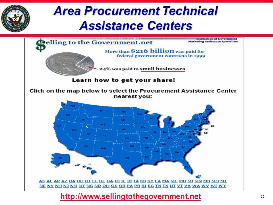 Area Procurement Technical Assistance Centers