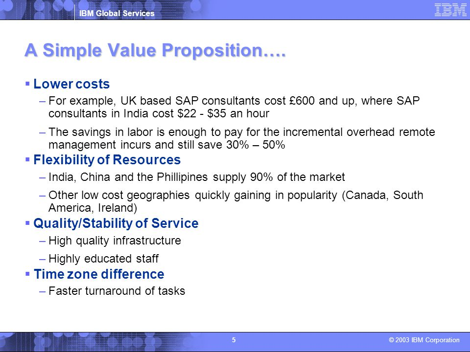 A Simple Value Proposition….